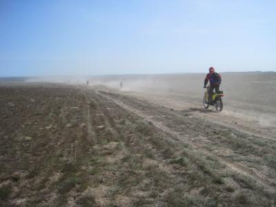 Racers take off in Odessa during the Desert 100
