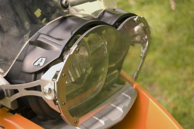 AltRider Lexan Headlight Guard for the BMW R 1200 GS is bulletproof