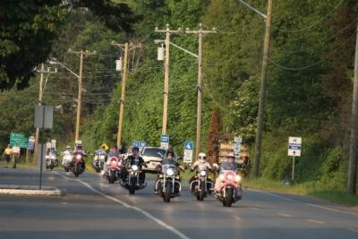 Conga Line motorcycle cross country fundraiser for breast cancer research