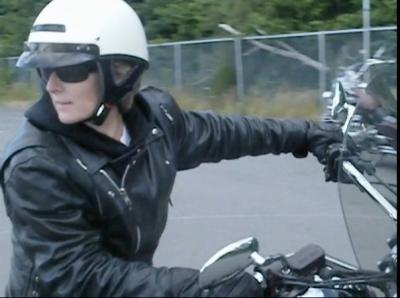 Karen Allen learns to Ride Like a Cop