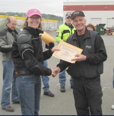 Ride Like a Cop graduation certificate