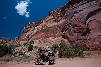 Capitol Reef and a BMW F 800 GS