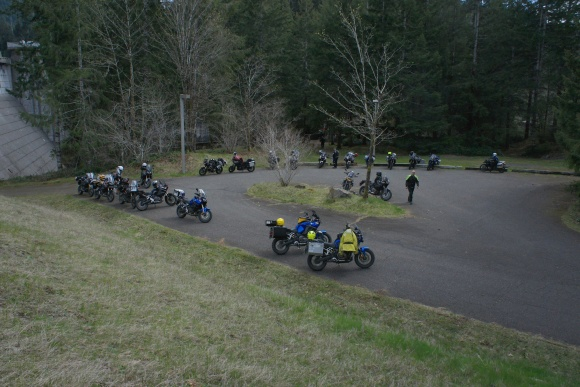 Taking a break at the Wynoochie Dam