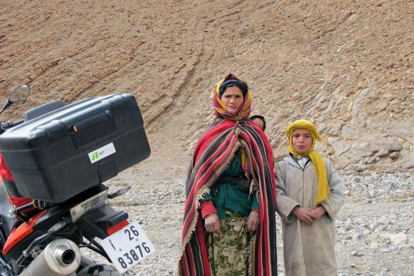Surprise encounter with nomadic goat herders