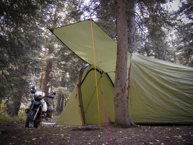 Awning Kit for Series II and Tenere Expedition Tents - Action Shot