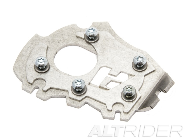AltRider Side Stand Enlarger Foot for the BMW R 1200 GS Water Cooled (2013) - Silver - Additional Photos
