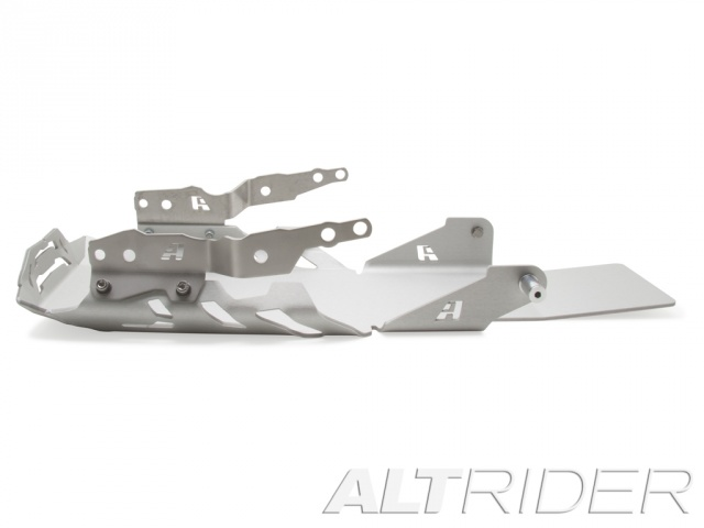 AltRider Skid Plate for the BMW R 1200 GS Water Cooled (2013-2015) - Silver - With Mounting Bracket - Additional Photos