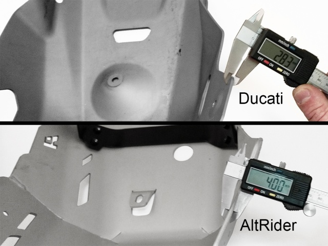 AltRider Skid Plate for the Ducati Multistrada 1200 (2015-current) - Additional Photos
