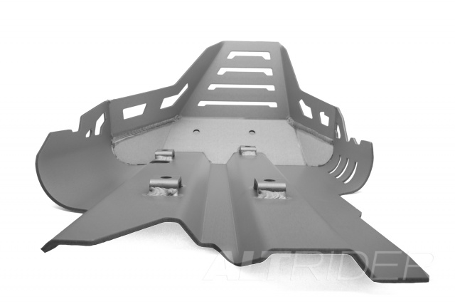 AltRider Skid Plate for the Triumph Tiger 800 - Silver - Additional Photos