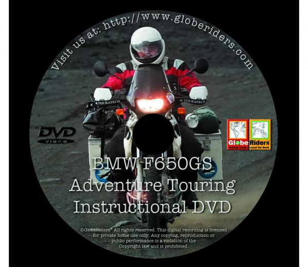 GlobeRiders BMW F650GS Adventure Touring Instructional DVD movie