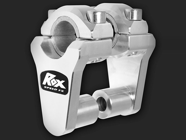 "ROX Elite Pivoting Handlebar Riser 2"" Rise x 7/8"" Handlbar Clamp x 7/8"" or 1 1/8"" Handlebar - Silver - Feature"