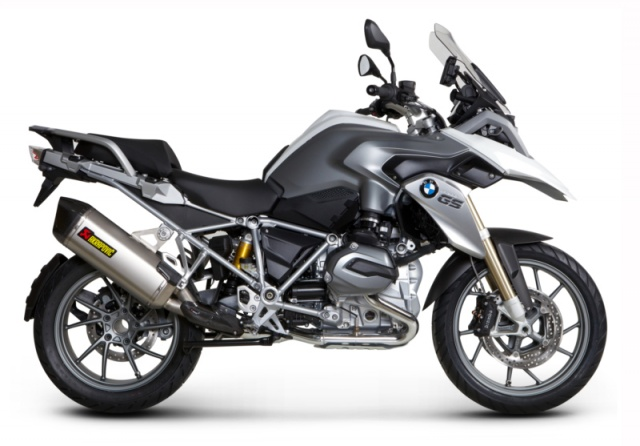 Akrapovic BMW R1200GS Water-Cooled (2013 and Newer) SLIP-ON Exhaust SYSTEM - Titanium - Installed