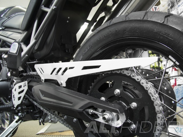 AltRider Chain Guard for the Triumph Tiger 800 - Installed