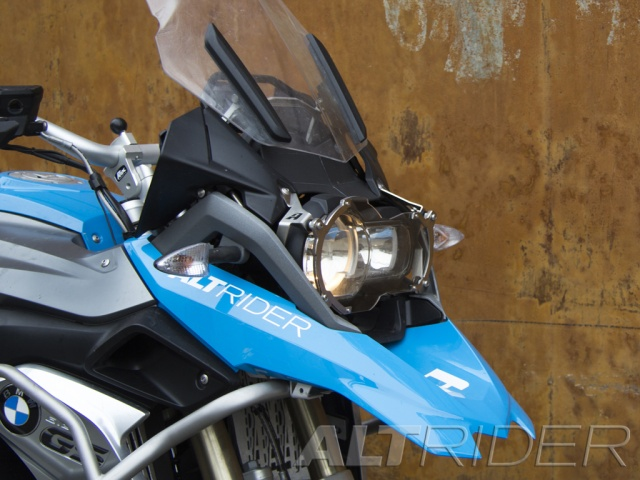 AltRider Clear Headlight Guard for the BMW R 1200 GS Water Cooled - Silver - Installed
