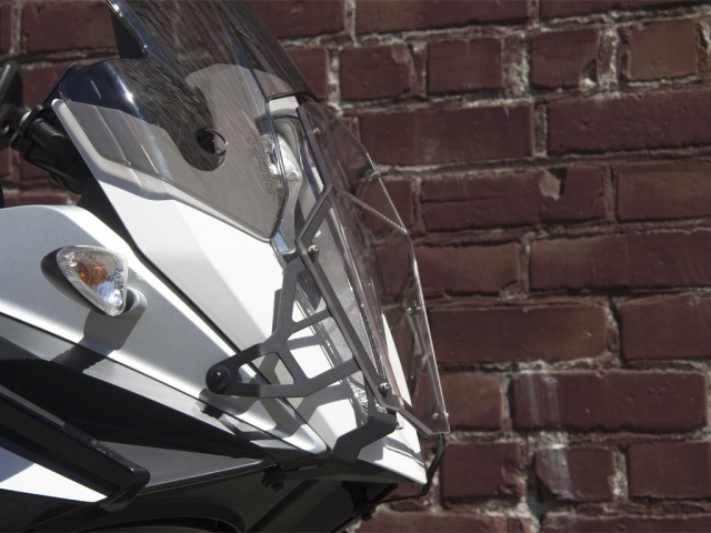 AltRider Clear Headlight Guard for the KTM 1190 Adventure / R - Installed