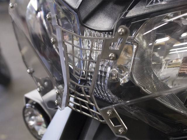 AltRider Clear Headlight Guard for the Triumph Tiger 800 - Installed