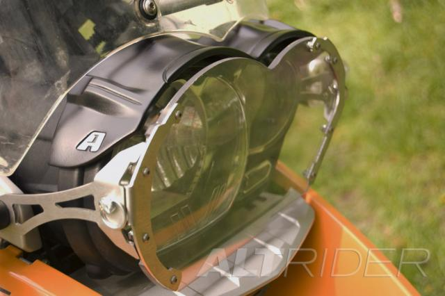 AltRider Clear Headlight Guard Kit for the BMW R 1200 GS /A (2003-2012) - Installed