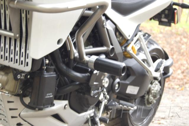 AltRider Crash Bars and Frame Slider Kit for the Ducati Multistrada 1200 - Installed