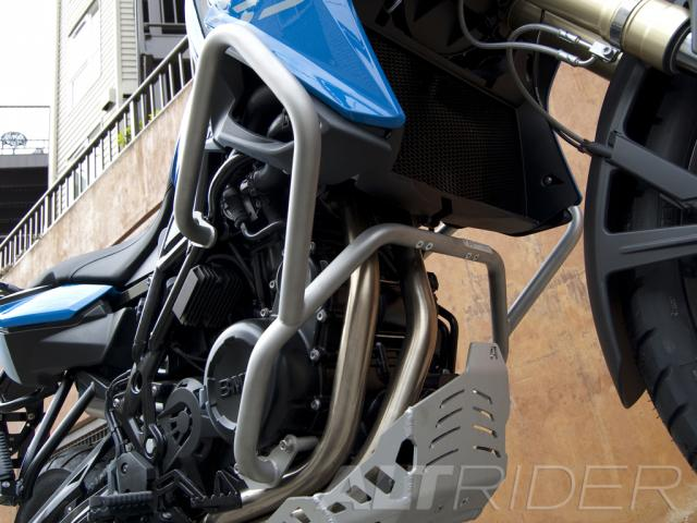 AltRider Crash Bars for the BMW F 800 GS - Silver - Installed