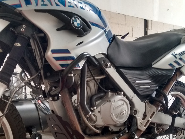 AltRider Crash Bars for the BMW G 650 GS - Silver - Installed