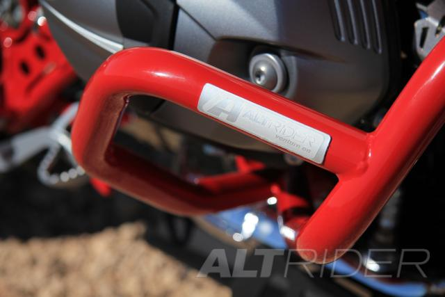 AltRider Crash Bars for the BMW R 1200 GS (2003-2012) - Red - Installed