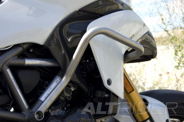 AltRider Crash Bars Kit for Ducati Multistrada 1200 (2010-2014) - Silver - Installed