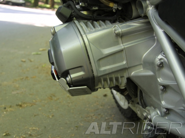 AltRider Cylinder Head Guards for the BMW R 1200 Water Cooled - Silver - Installed