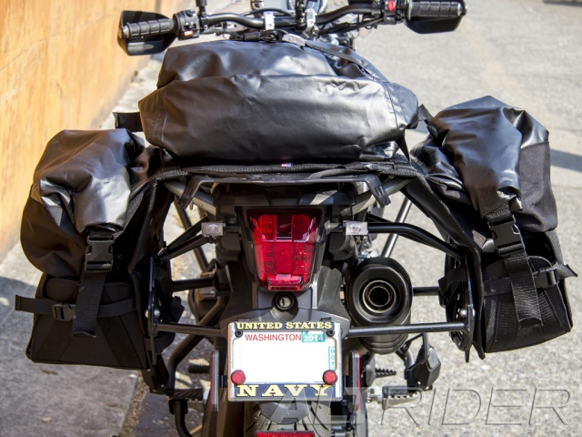AltRider Hemisphere Sport Touring Waterproof Soft Panniers - Installed
