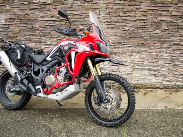 AltRider High Fender Kit for the Honda CRF1000L Africa Twin - Black - Installed