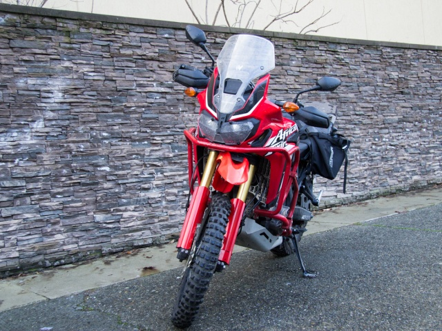 AltRider High Fender Kit for the Honda CRF1000L Africa Twin - Red - Installed