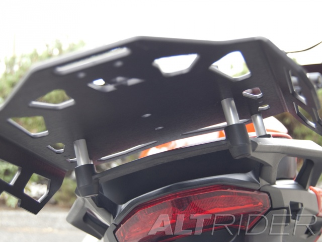 AltRider Luggage Rack for Ducati Hyperstrada - Black - Installed