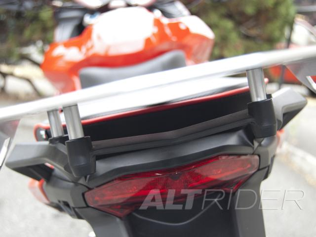 AltRider Luggage Rack for Ducati Multistrada 1200 (2010-2014) - Silver - Installed