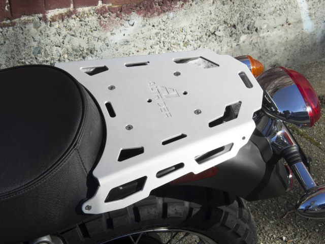 AltRider Luggage Rack for Triumph Thruxton - Installed