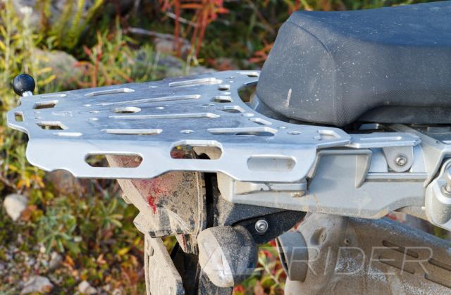 AltRider Luggage Rack Lower Position for R 1200 GS (2003-2012) - Silver - Installed