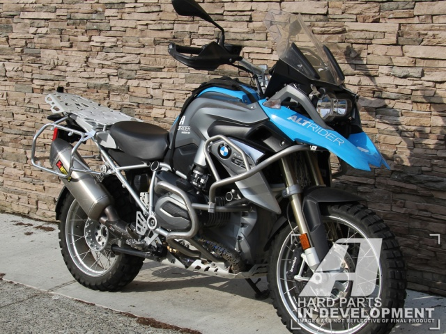 AltRider Luggage Rack System for BMW R 1200 GS Water Cooled - Silver - Installed