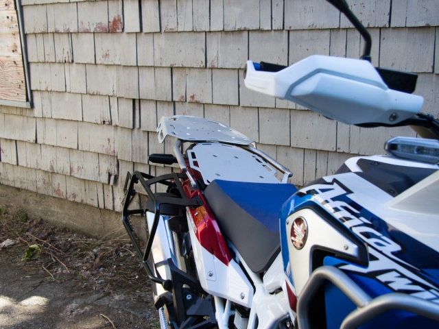 AltRider Luggage Rack System for the Honda CRF1000L Africa Twin Adventure Sports - Silver - Installed