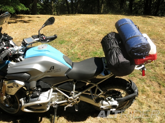 AltRider Pillion Luggage Rack for BMW R 1200 GS /GSA Water Cooled - Installed