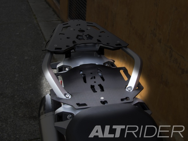 AltRider Pillion Luggage Rack for BMW R 1200 GS Water Cooled - Black - Installed