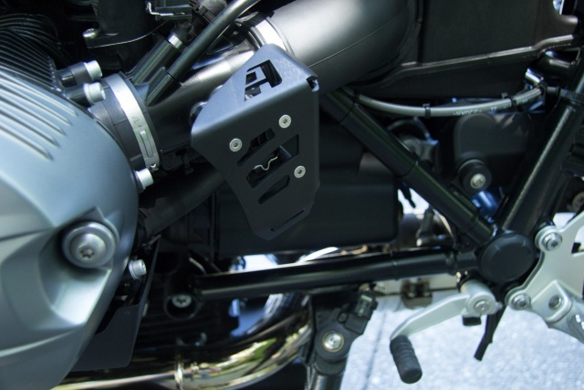 AltRider Potentiometer Guard for the BMW R nineT Models - Installed
