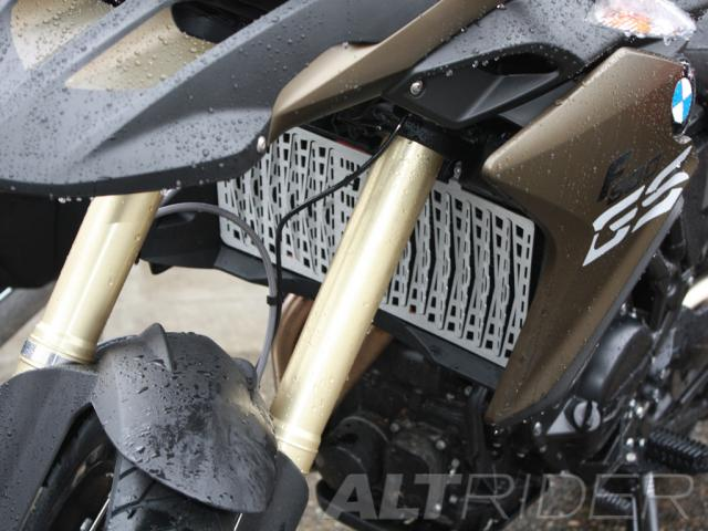 AltRider Radiator Guard for the BMW F 800 GS /A (2013-current) - Silver - Installed