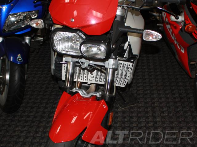 AltRider Radiator Guard for the BMW F800R - Black - Installed
