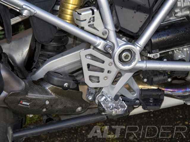 AltRider Rear Brake Master Cylinder Guard for the BMW R 1200 GS Water Cooled - Black - Installed