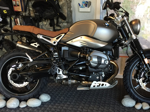 AltRider Rear Brake Master Cylinder Guard for the BMW R nineT Models - Installed