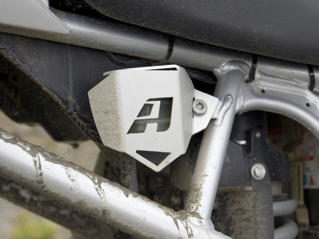 AltRider Rear Brake Reservoir Guard for BMW R 1200 GS (2003-2012) - Silver - Installed
