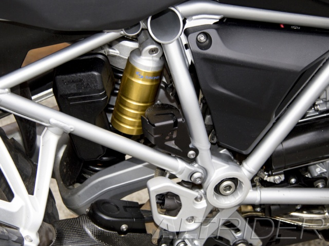 AltRider Rear Brake Reservoir Guard for the BMW R 1200 GS /GSA Water Cooled - Installed