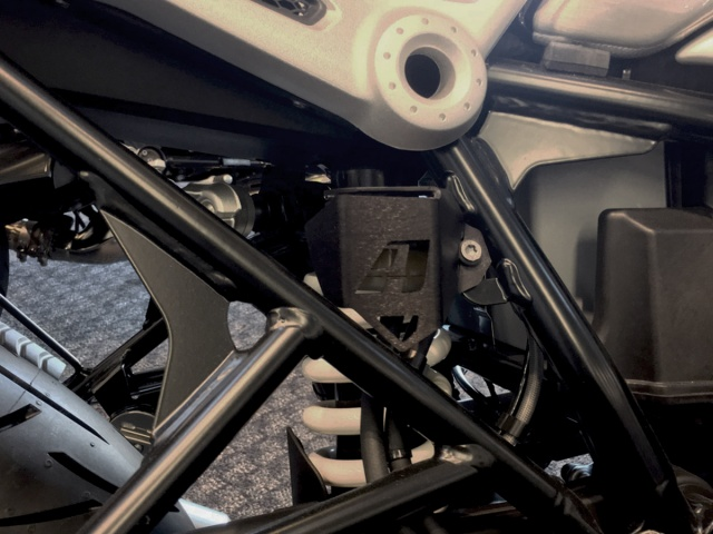 AltRider Rear Brake Reservoir Guard for the BMW R nineT Models - Installed
