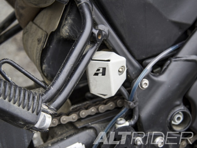 AltRider Rear Brake Reservoir Guard for the Husqvarna TR650 Terra and Strada - Installed