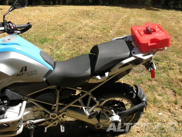 AltRider Rear Luggage Rack for the BMW R 1200 GS Water Cooled - Silver - Installed
