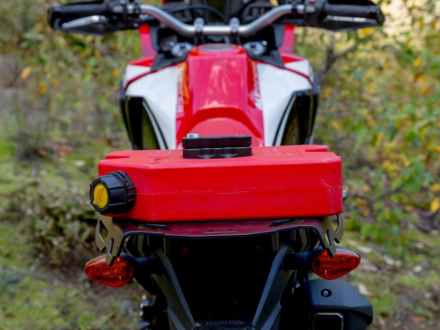 Altrider Rear Luggage Rack for the Honda CRF1000L Africa Twin - Black - Installed