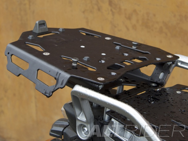 AltRider Rear Luggage Rack for Yamaha XT1200 - Black - Installed